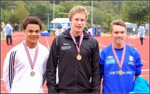 Damian med gullmedaljen