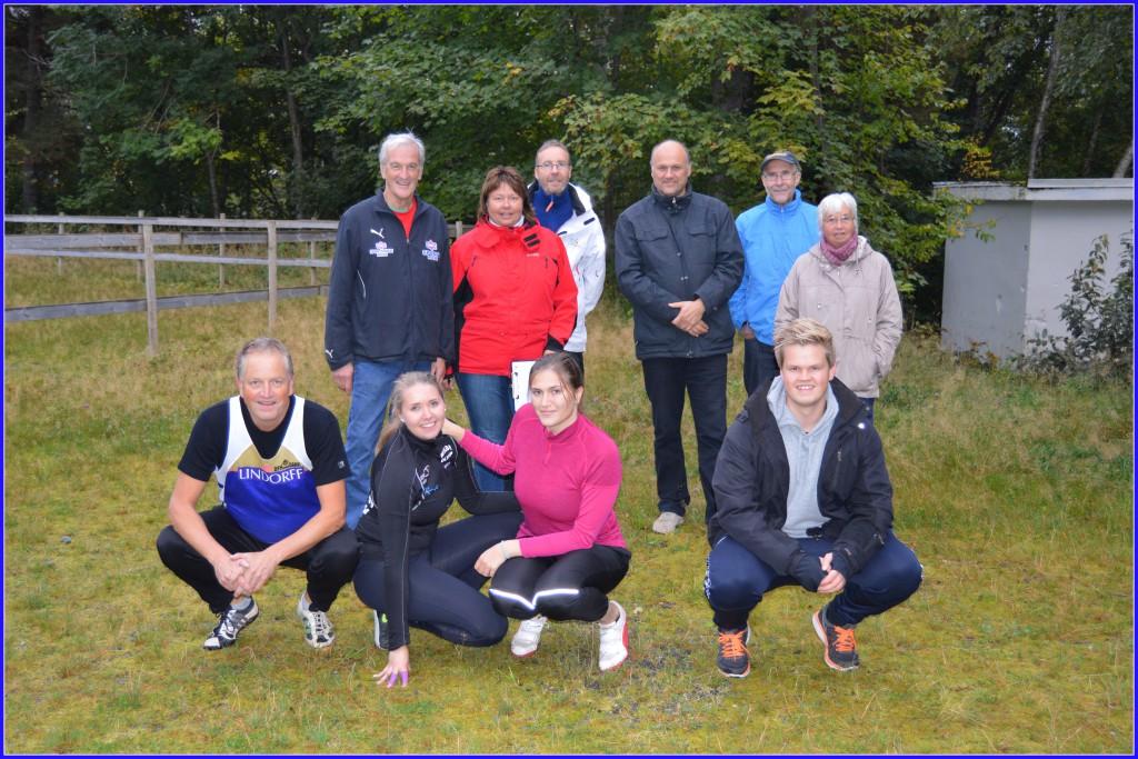 Her er gjengen som laget treningsstevne i Dalen. Foto: Arvid Ottestad