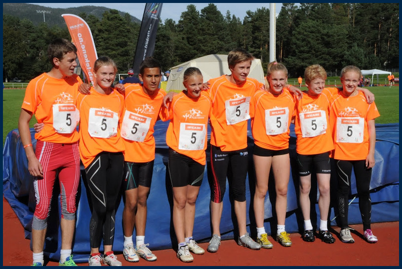 Stafettlaget som tok bronse på 8 X 200m