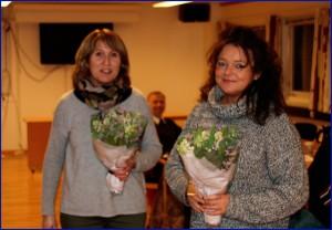 Takk for innsatsen for Molde Olymp - Merethe Grøtta (t.v) og Tone Johannessen Solheimdal