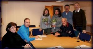 Styremedlemmer på årsmøtet til Molde Olymp.