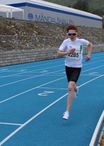Mikkel Waldeland Gautvik gull på 1500 m med tida 4.49.03