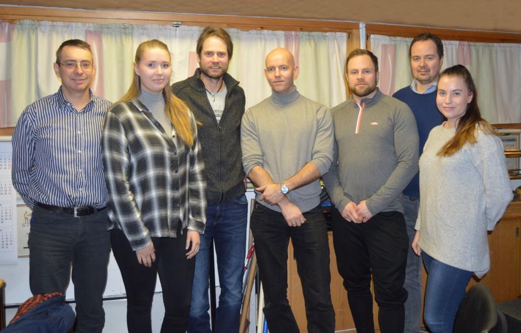 Trenere i 2016: Fra venstre Bjarne Sjåholm, Frida Brødreskift, Terje Gautvik, Anders Eide,  Lars Inge Jensen, Martin Solheim og  Astrid Marie Gussiås. Jakob Oshaug og Sondre Nyvold Lid er ikke med på bildet.