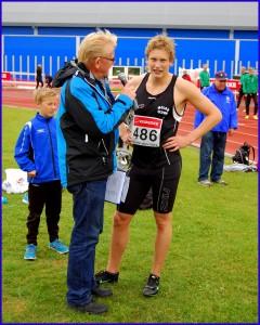 Damian intervjues etter gull på 400m